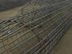 Cage Shaped Welded Structure, for Rebar Pile Reinforcement