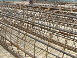 welded steel pile cages